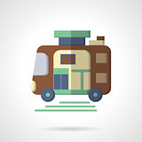 Trailer flat color vector icon