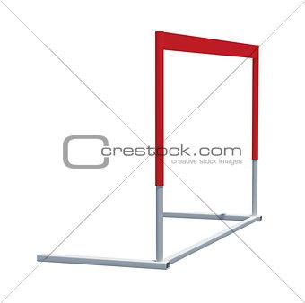 Treadmill barrier on white background
