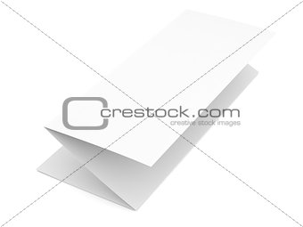 Folded blank paper booklet on white background
