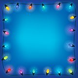 Christmas lights theme frame 2