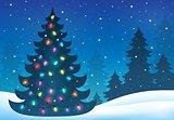Christmas tree silhouette topic 7