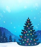 Christmas tree silhouette topic 8