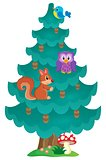 Coniferous tree theme image 2