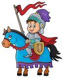 Knight on horse theme image 1