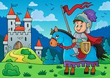 Knight on horse theme image 3