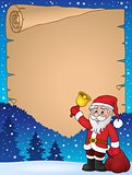 Santa Claus with bell theme parchment 2