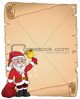 Santa Claus with bell theme parchment 3