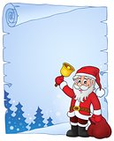 Santa Claus with bell theme parchment 4