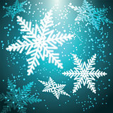 Christmas snowflakes background.
