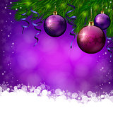 Christmas violete background