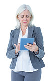 Businesswoman using her tablet