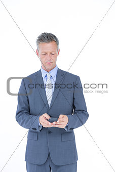 A successful businessman on phone