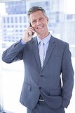 Businessman having phone call