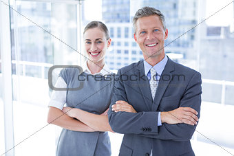 Business colleagues smiling at the camera