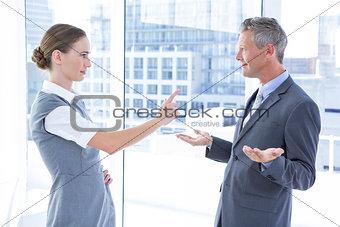 Business colleagues quarreling
