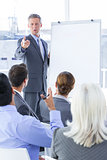 businessman give a presentation