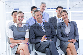 business team during a meeting