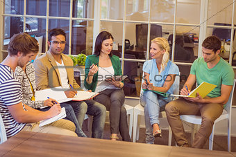 Attentive creative business people in meeting