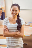 Young businesswoman smiling at the camera