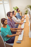Call centre colleagues at work