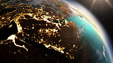 Planet Earth West Asia zone using satellite imagery NASA