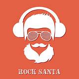 Christmas hipster poster for party or greeting card. Vector illustration. Santa Hipster Claus. vector merry christmas art design