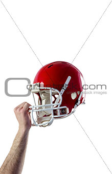 A helmet of an american football player