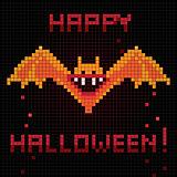 pixel halloween bat