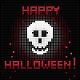 pixel halloween skull