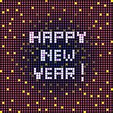 happy new year pixelated