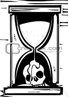 Skull Hour Glass