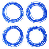 felt pen hand drawn blue circle