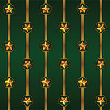 Seamless vector Cristmas pattern with stripes and stars. For gift boxes, wallpapers, wrappers, backgrounds, web sites