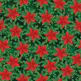 Vintage seamless holiday pattern with pine tree branches and stars. For gift boxes, wallpapers, wrappers, backgrounds, web sites
