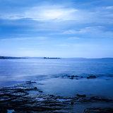 Peaceful Sea Landscape. Long Exposure. Calm Water.