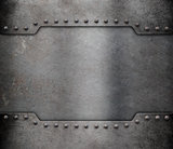 metal armour plate frame background