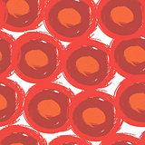 Round stroke seamless pattern. Textile grunge design.