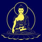 Vector Sitting Buddha