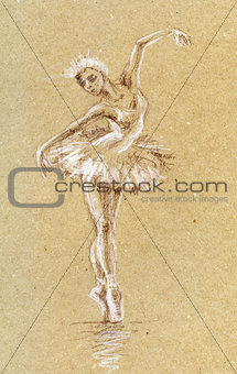 Art sketch Ballerina