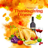 Happy Thanksgiving dinner celebration
