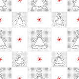 Angels. Seamless christmas pattern.