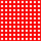 White cages on red background seamless pattern.