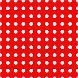 White dots on red background seamless pattern.