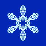 Snowflake. Christmas pattern.