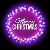 Congratulation to Christmas with purple lights
