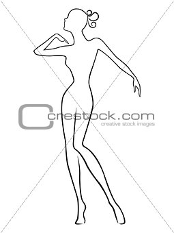 Abstract slender female