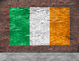 Flag of Ireland and foreground