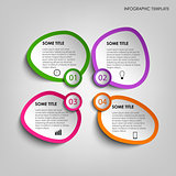Info graphic with colorful abstract stickers template