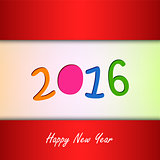 New Year card with color background