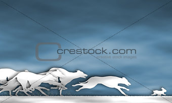 Greyhound race cutout